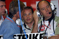Craig Pollock, Jacques Villeneuve and Jock Clear