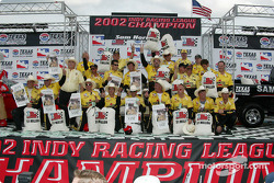 Sam Hornish Jr. and Panther Racing crew celebrate