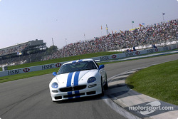 Michael Schumacher drives the Maserati Trofeo