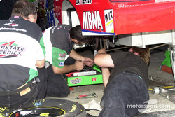 Working on Bobby Labonte's suspension