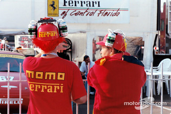 Ferrari fans all ways ready