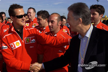 Michael Schumacher and Piero Ferrari