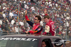 Jeff Gordon and Bill Elliott, parade lap