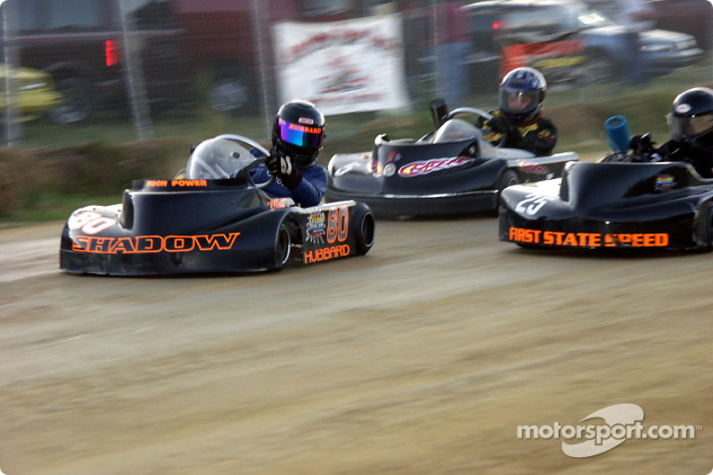 Briggs Junior Restricted-lite-#80-Matt Hubbard, #25-Austin Hurley and #5-Charles Short