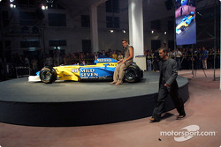 Spoon/Mild Seven RenaultF1 Media Party: Fernando Alonso and Jarno Trulli