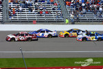 The start: Jeff Green leads David Green, Michael Waltrip and Jamie McMurray