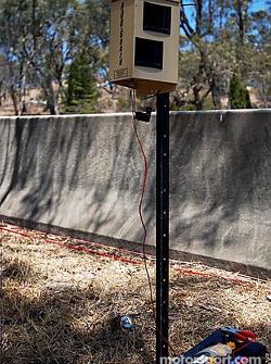 Rooguard transmitting a very high pitch noise to keep the kangaroos off the track