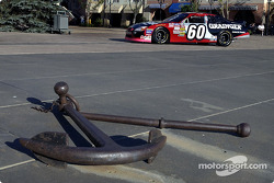 The 2002 Grainger Ford Taurus of champion Greg Biffle was staged at the waterfront of the Bay
