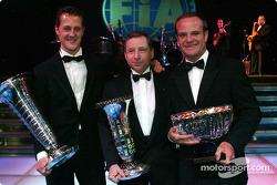 Michael Schumacher, Jean Todt, Rubens Barrichello