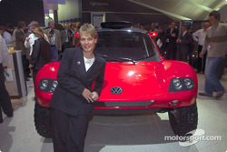 Volkswagen Tarek World debut at the Essen Motor Show: Jutta Kleinschmidt