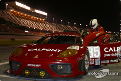 Pitstop practice at #35 Risi Competizione: Ralf Kelleners, Anthony Lazzaro, Johnny Mowlem
