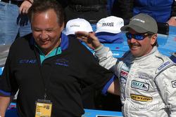 Kevin Buckler celebrates victory
