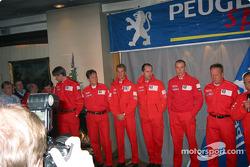 Team Peugeot press conference in Karlstadt