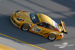 #98 Schumacher Racing Champion Porsche GT3 RS: Sascha Maassen, Martin Snow, Lucas Luhr, Larry Schumacher, and #46 Morgan Dollar Motorsports Corvette: Charles Morgan, Rob Morgan, Lance Norick, Jim Pace