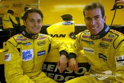Giancarlo Fisichella and Ralph Firman