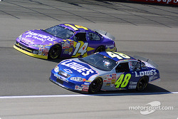 Jimmie Johnson and Larry Foyt