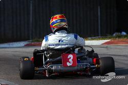 Karting session with Juan Pablo Montoya