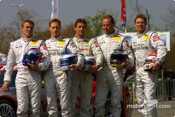 Marcel Fassler, Thomas Jäger, Bernd Schneider, Uwe Alzen and Bernd Mayländer