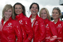 The lovely Vodafone girls