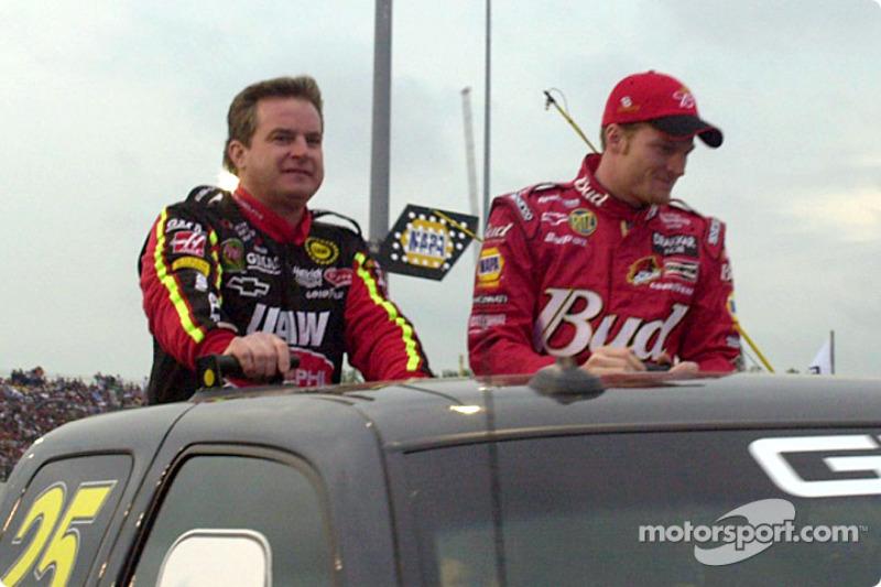 Joe Nemechek and Dale Earnhardt Jr.