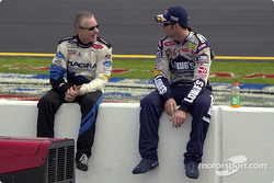 Mark Martin and Jimmie Johnson have a chat