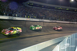 Nemechek, Labonte, Earnhardt, looking pretty much like the finish