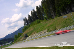 Motion blur on Michael Schumacher