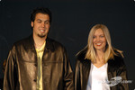 Sam Hornish Jr. and fiancée Crystal Leighty