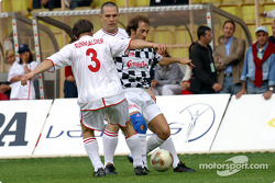 Football match at Stade Louis II in Monaco: Jarno Trulli