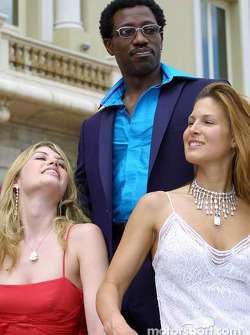 Jaguar photoshoot: Wesley Snipes, Meredith Ostrum and Julienne Davis