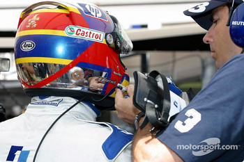 Juan Pablo Montoya gets ready