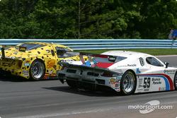 #59 Brumos Racing Porsche Fabcar: Hurley Haywood, J.C. France, Chris Dyson, and #8 G&W Motorsports BMW Picchio DP2: Darren Law, Andy Lally, Geoffrey Bodine