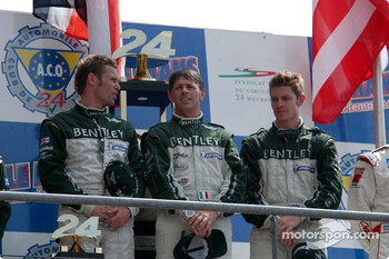 Podium: overall winners Tom Kristensen, Rinaldo Capello, Guy Smith