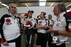 Geoff Willis, Jenson Button and David Richards