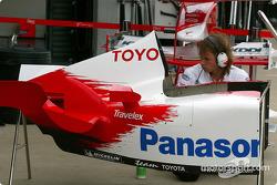 Toyota pit area