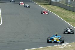 Jarno Trulli leads Kimi Raikkonen