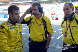 Zsolt Baumgartner with Tim Edwards and Ian Phillips