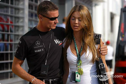 David Coulthard with girlfriend Simone
