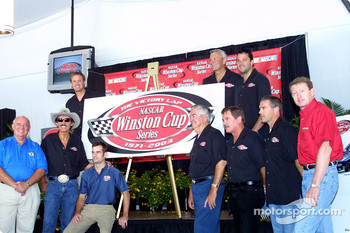 Winston Cup champions form RJR years: Benny Parsons, Bobby Allison, Richard Petty, Jeff Gordon, Bobby Labonte, Terry Labonte, Bill Elliott, Rusty Wallace, Tony Stewart