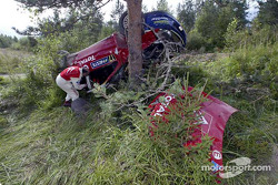 Aftermath of Colin McRae's crash