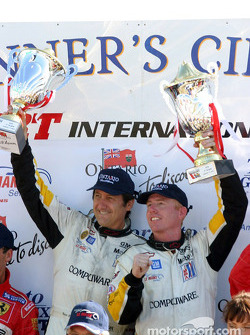 GTS podium: race winners Ron Fellows and Johnny O'Connell