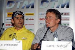 Press conference in Palais Ferstel, Vienna: Karl Wendlinger and Marcel Fassler