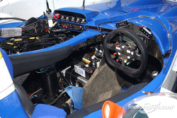 Cockpit of the #16 Dyson Racing Team Lola EX257/AER MG