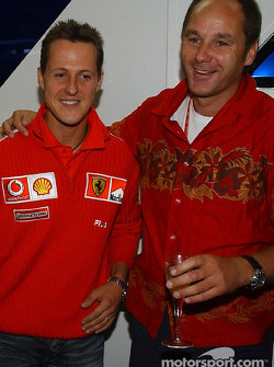 BMW Motorsport Director Gerhard Berger retirement party: Michael Schumacher and Gerhard Berger
