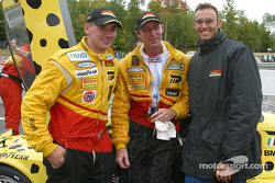 Darren Law, Andy Lally and Guy Cosmo after the race