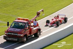 Michael Schumacher back behing the tow truck