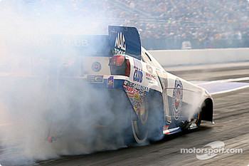 Gary Densham took the pole in Funny Car