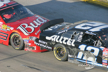 Dale Earnhardt Jr. bulldozes Ryan Newman