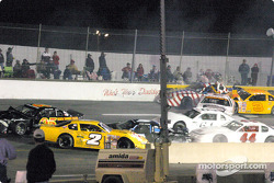 A big pile-up at the start of the race
