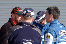 OzEmail's John Bowe and Ford Performance Racing's Craig Lowndes share a joke